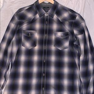 American Rag L Plaid Button Down